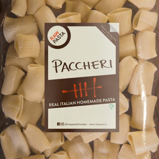 Dobre sveže domače testenine v obliki paccheri iz Rawpasta Ljubljana