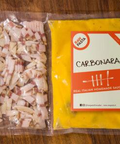 Il sugo più famoso al mondo la Carbonara preparato da RawPasta