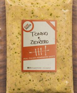 il gustoso sugo per pasta con tonno e zenzero di Rawpasta