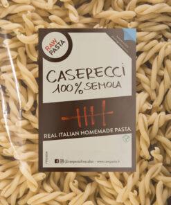 Sveže domače testenine iz zdroba iz trde pšenice Caserecci Rawpasta Ljubljana