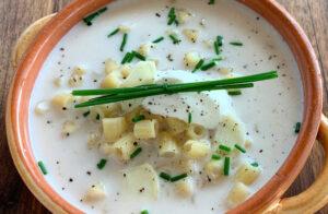 Dobra recept za česnovo juho Knoblauchsuppe s svežimi testeninami Rawpasta Ljubljana
