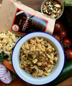 The practical and economical Kit ie Rawpasta to prepare the Trottole all'Ortolana