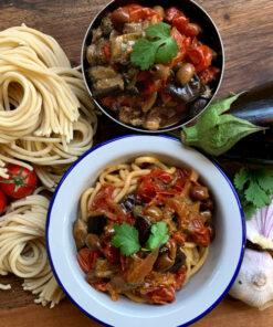"The practical and convenient kit for Spaghettoni alla Siciliana ""by Rawpasta"